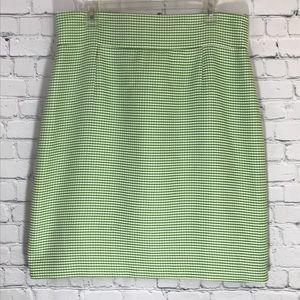 Isabella DeMarco houndstooth skirt, sz 14 (b31)